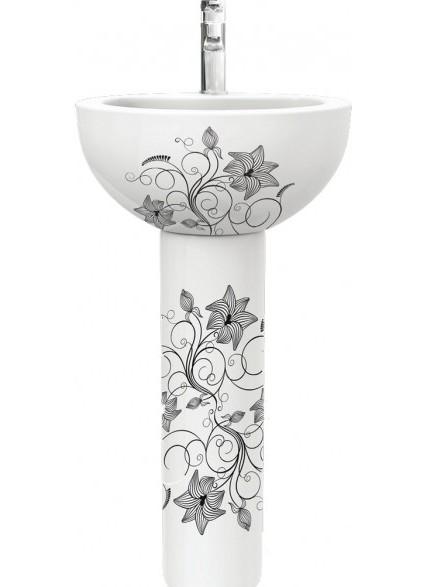 sanita luxe art flora раковина