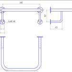 Поручень настенный для монтажа под раковину (3)
