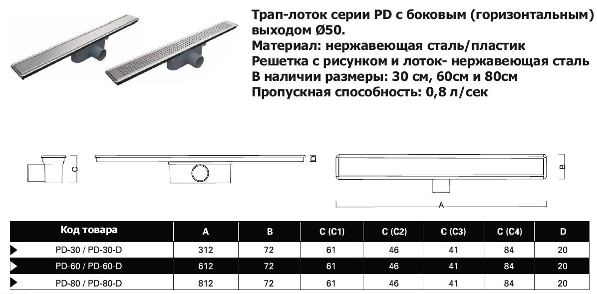 PD60 трап лоток